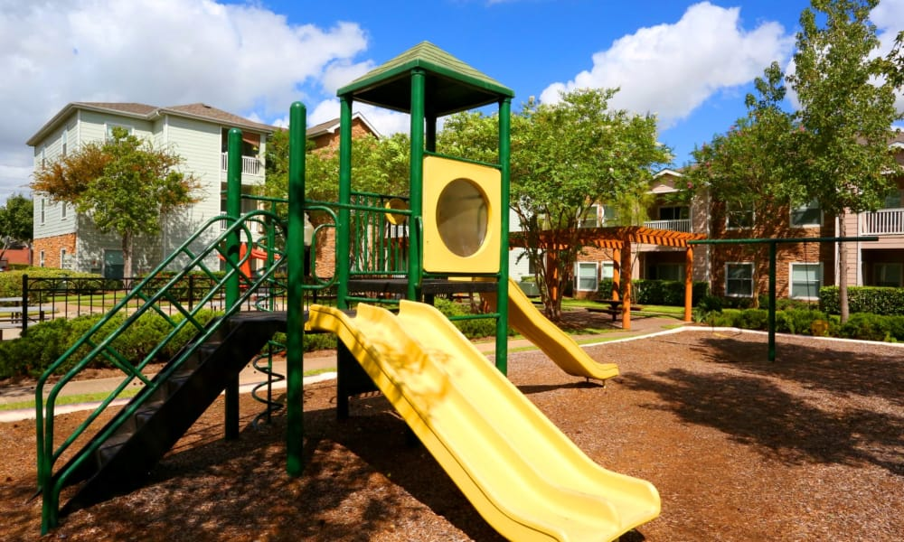 Cornerstone Ranch Apartments offers a playground in Katy, Texas