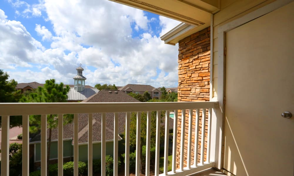 View from balcony at Cornerstone Ranch Apartments in Katy, Texas