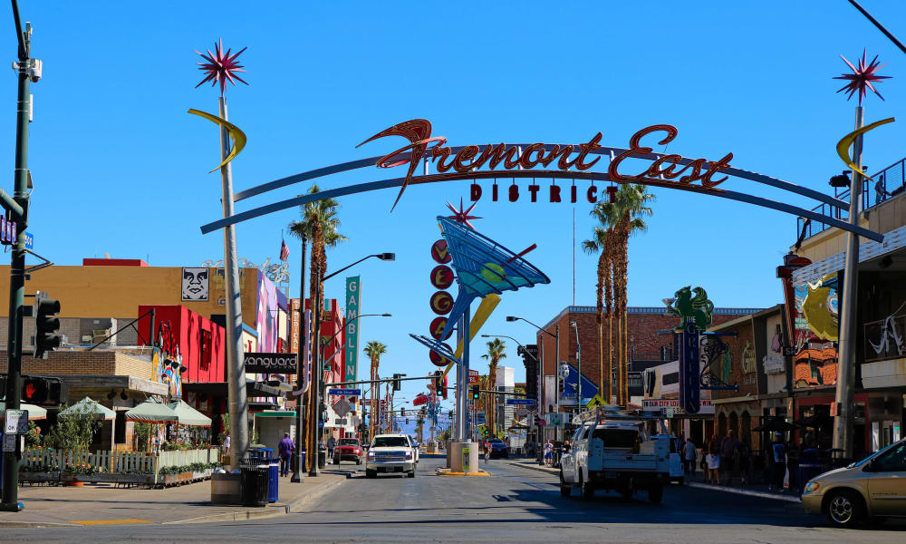Fremont district near City Center Apartments in Las Vegas, Nevada