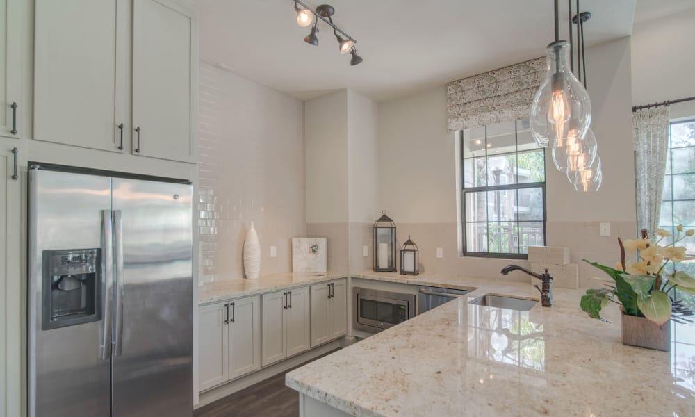 Spacious kitchen at Thornbury Apartments in Houston, Texas