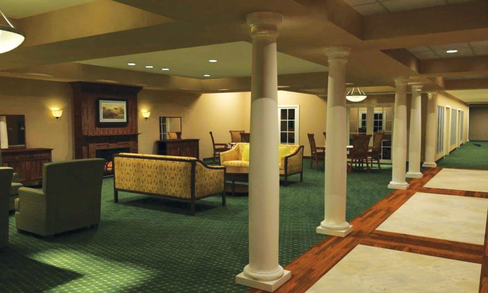 Seating area at our senior living facility in Harleysville, Pennsylvania