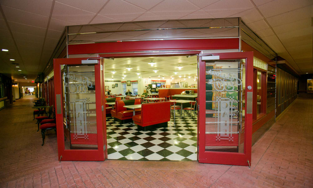 The front of the 50's Cafe at Arbour Square of Harleysville
