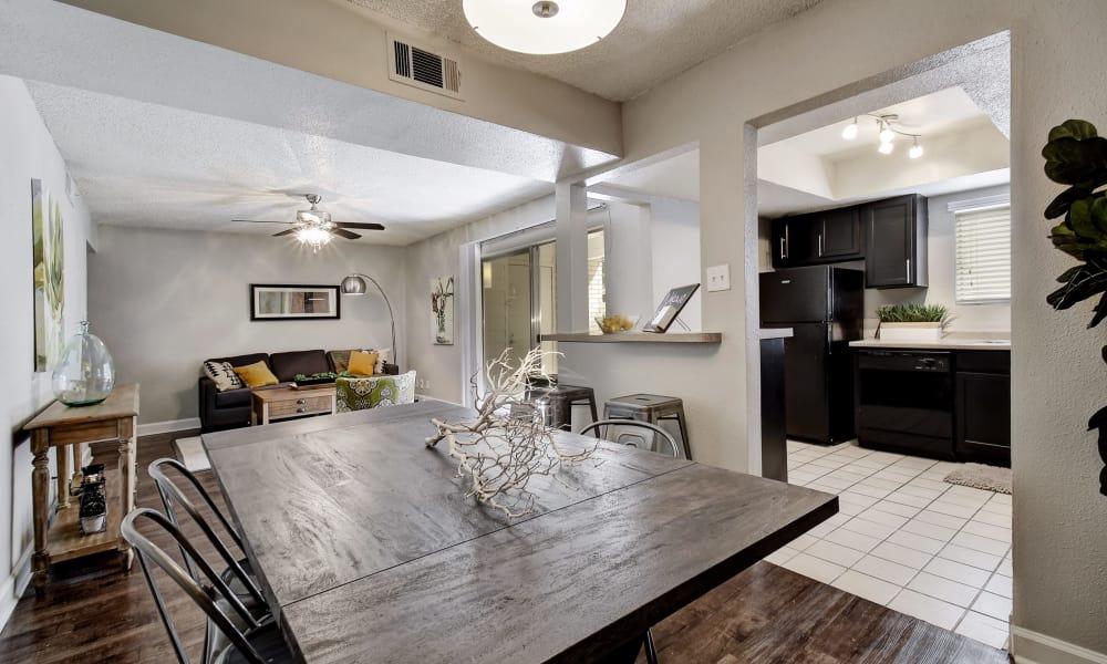 Beautiful apartment interior at Oasis at Oakwell in San Antonio, Texas