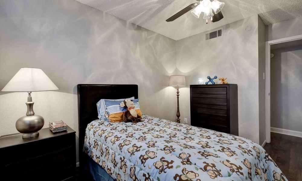 Spacious bedroom at Oasis at Oakwell in San Antonio, Texas