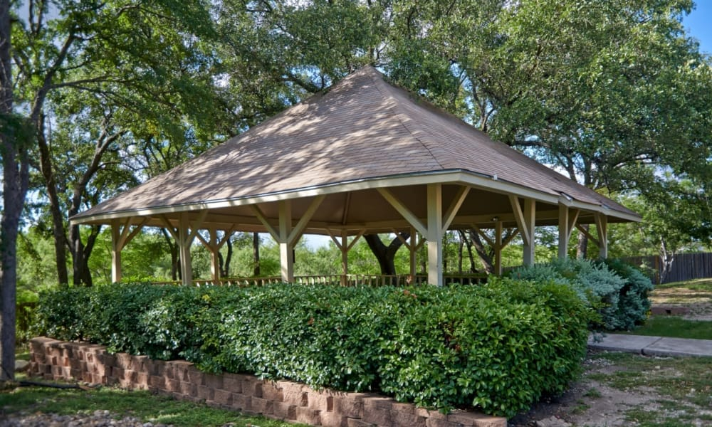 Beautiful gazebo at Retreat at Hart Ranch in San Antonio, Texas