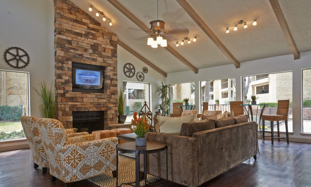 Clubhouse interior view at Retreat at Hart Ranch in San Antonio, Texas