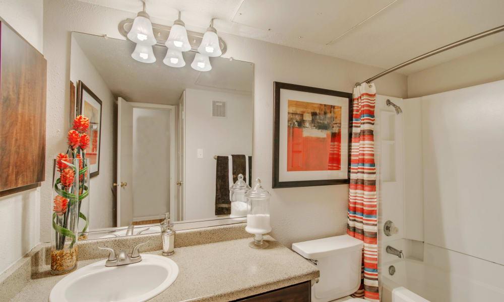 Modern bathroom at Retreat at Hart Ranch in San Antonio, Texas