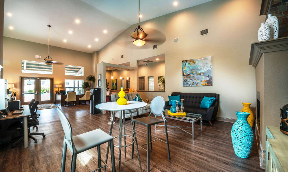 Clubhouse living room at Sedona Canyon in San Antonio, Texas