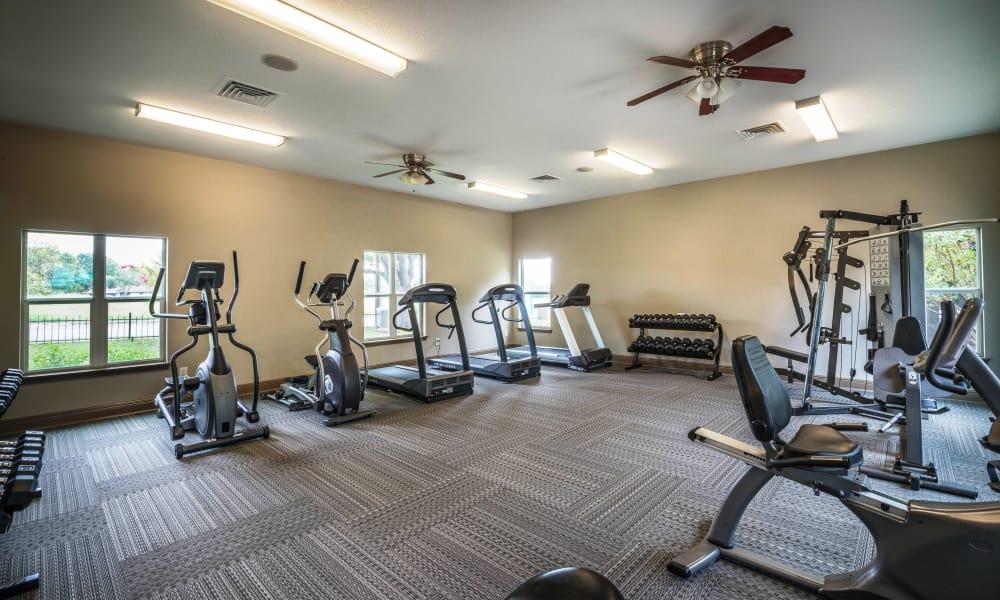 Fitness center at Sedona Canyon in San Antonio, Texas