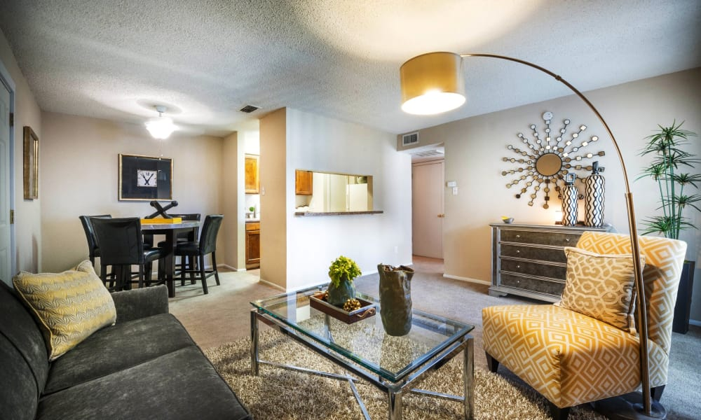 Beautiful living room at Sedona Canyon in San Antonio, Texas