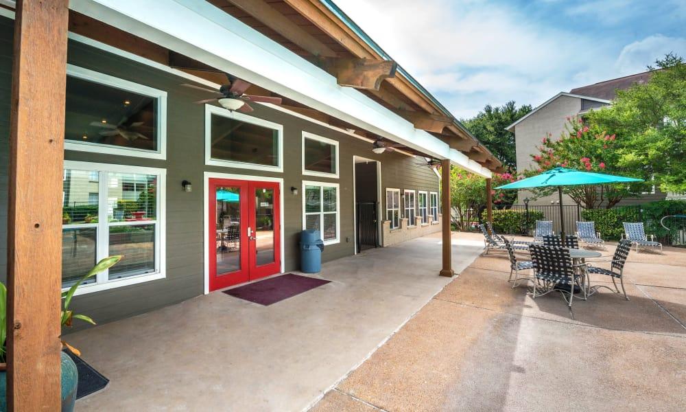 Clubhouse entrance at Sedona Canyon in San Antonio, Texas