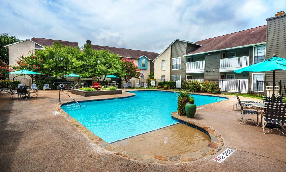 Swimming pool at Sedona Canyon in San Antonio, Texas