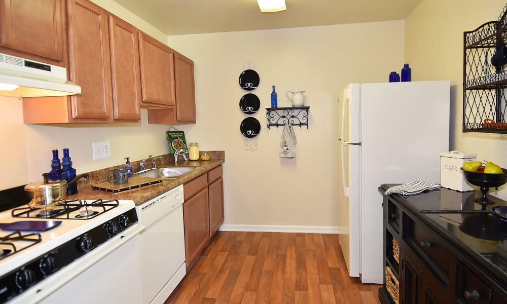 Kitchen at Willow Lake Apartment Homes in Laurel, MD