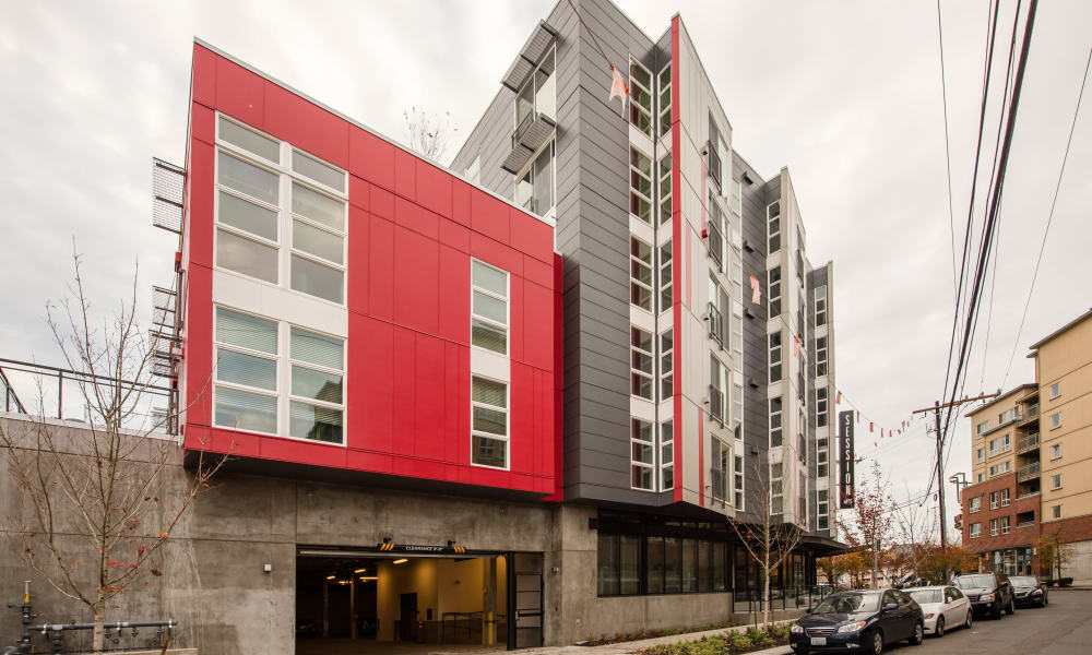 Underground parking at Session Apartments in Seattle