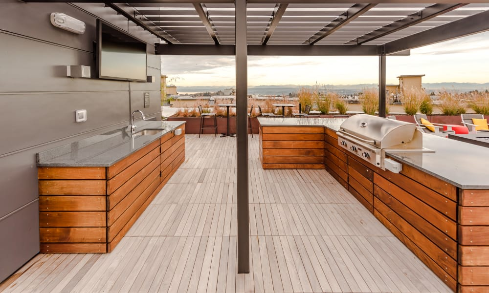 BBQ area at Session Apartments in Seattle