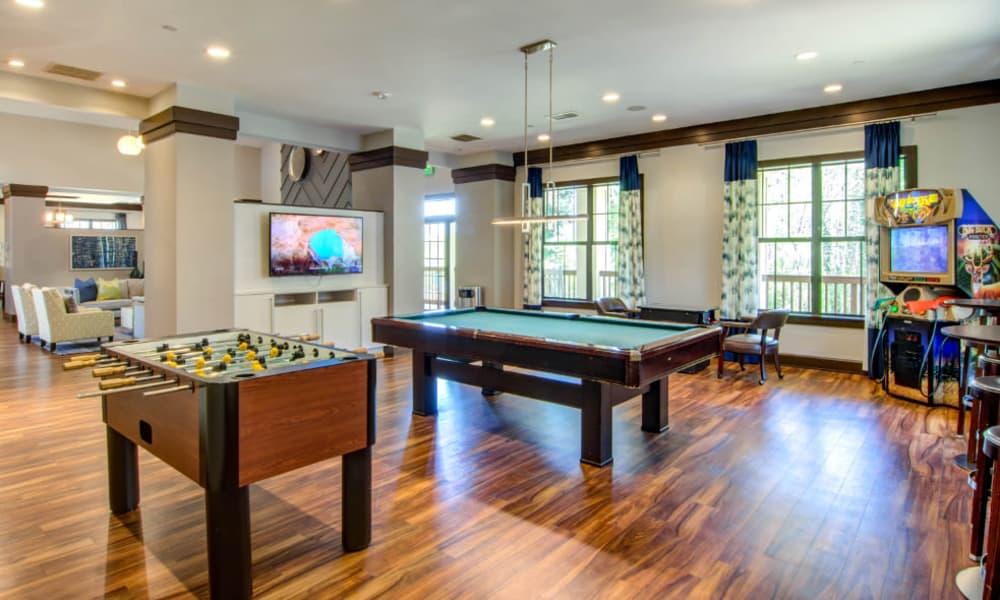 Billiard table at The Residences at Vinings Mountain in Atlanta, Georgia