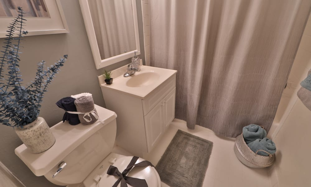 Bathroom at Brookdale at Mark Center Apartment Homes in Alexandria, VA