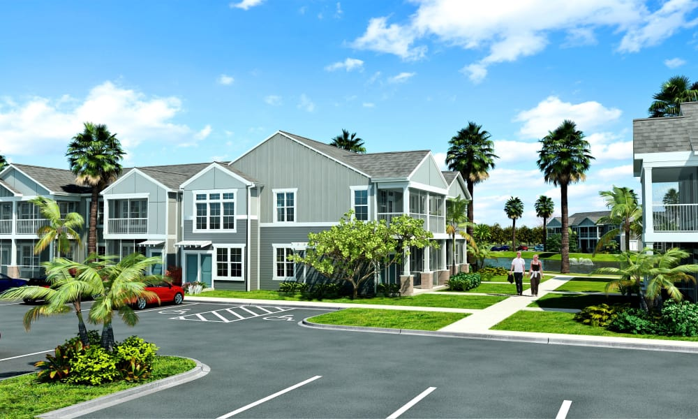 Ample parking at Springs at Hammock Cove in Naples, FL