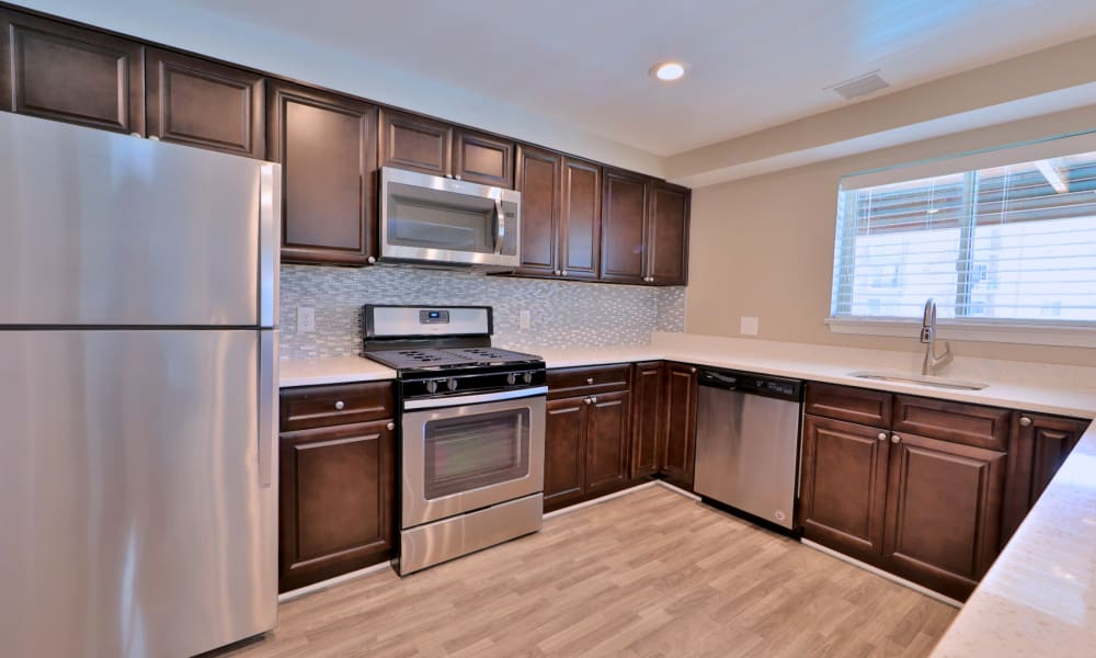 Modern Kitchen at Lighthouse at Twin Lakes Apartment Homes in Beltsville, Maryland