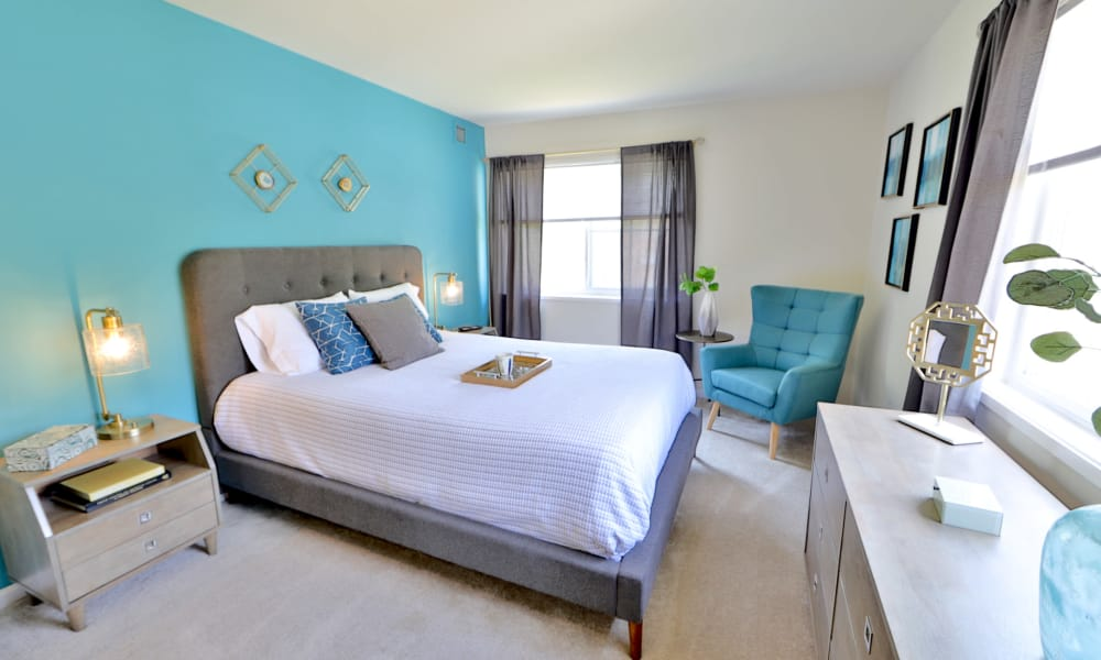 Sunny Bedroom at Lynbrook at Mark Center Apartment Homes in Alexandria, VA