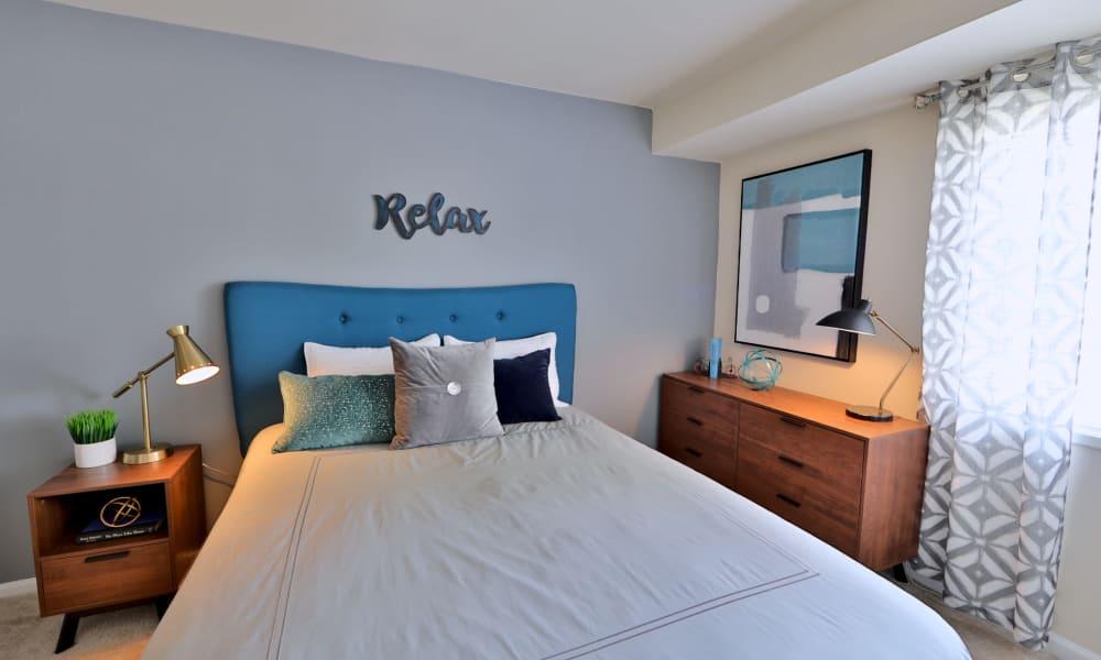 Cozy Bedroom at Lynbrook at Mark Center Apartment Homes in Alexandria, VA