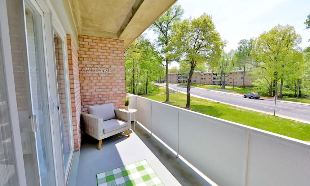 Balcony View at Lynbrook at Mark Center Apartment Homes in Alexandria, VA