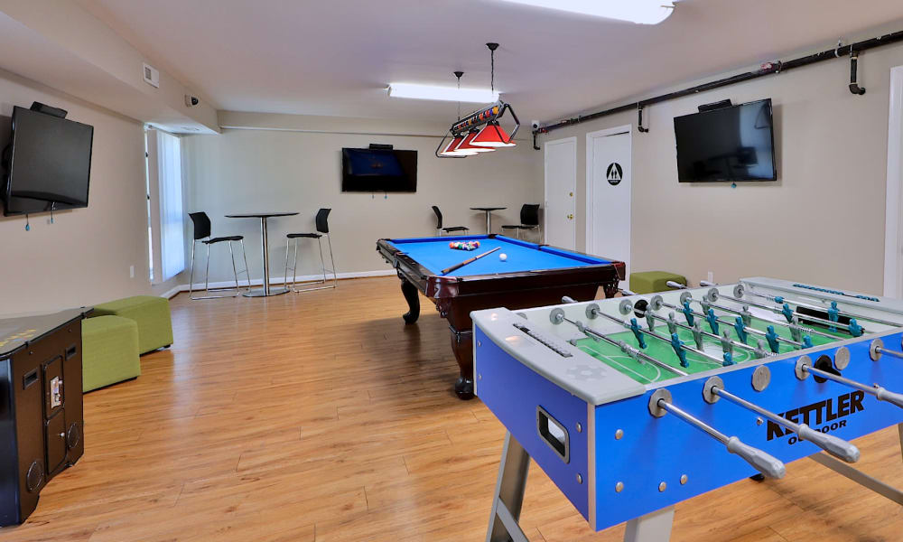 Game Room at Columbia Pointe Apartment Homes in Columbia, MD