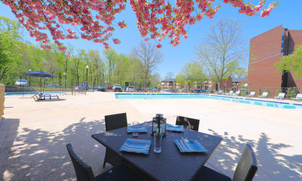 Pool Area at Columbia Pointe Apartment Homes in Columbia, MD