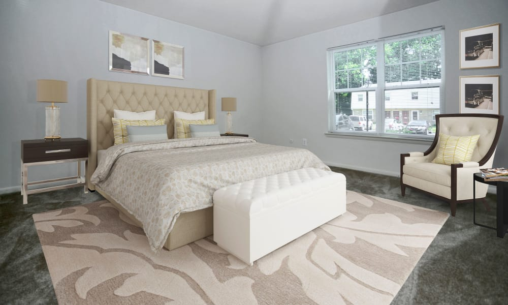 Spacious Bedroom at The Fairways Apartment Homes in Blackwood, NJ