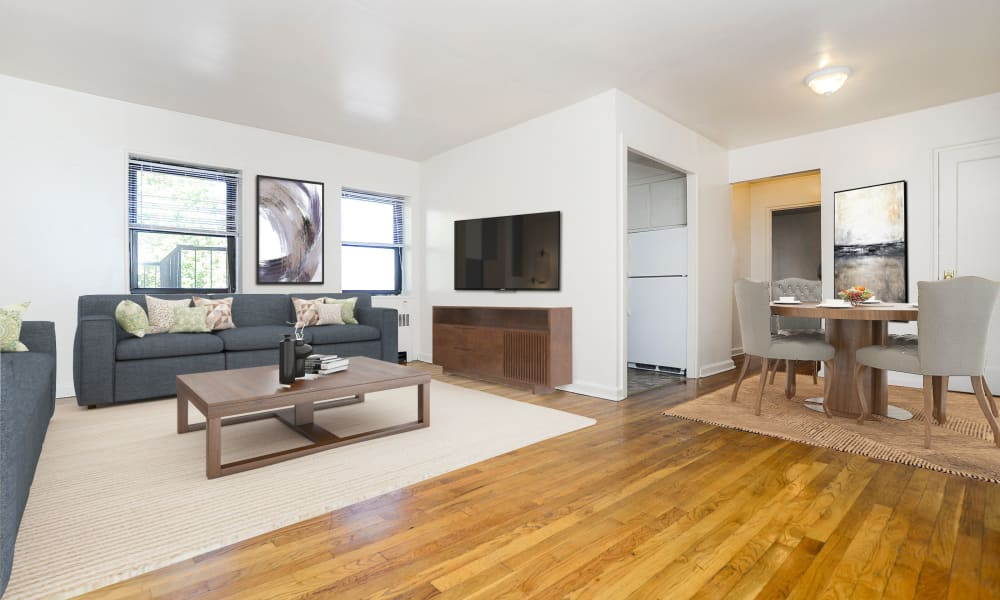 Spacious Living Room at Market Street Apartment Homes in Perth Amboy, New Jersey