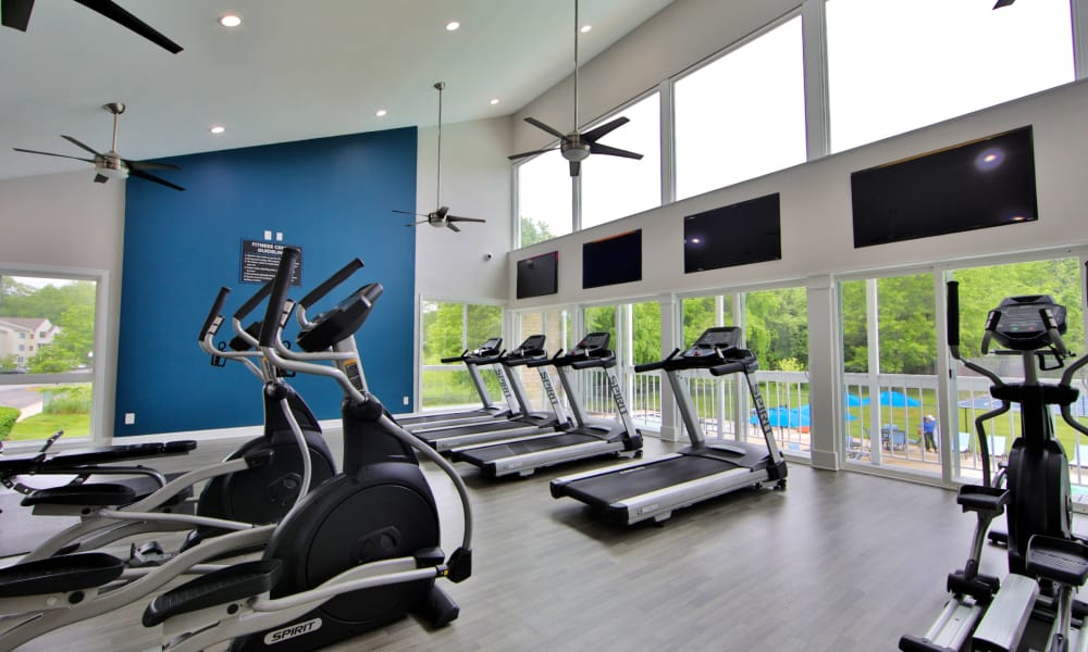 Luxury fitness center at Northampton Apartment Homes in Largo, Maryland