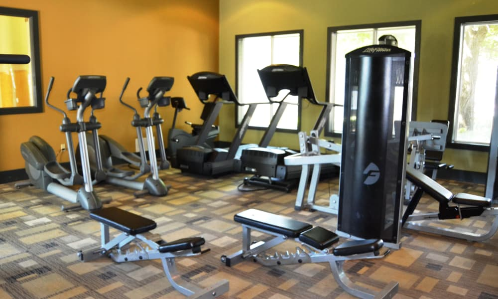 Fitness center at Club at Stone Oak in San Antonio, Texas