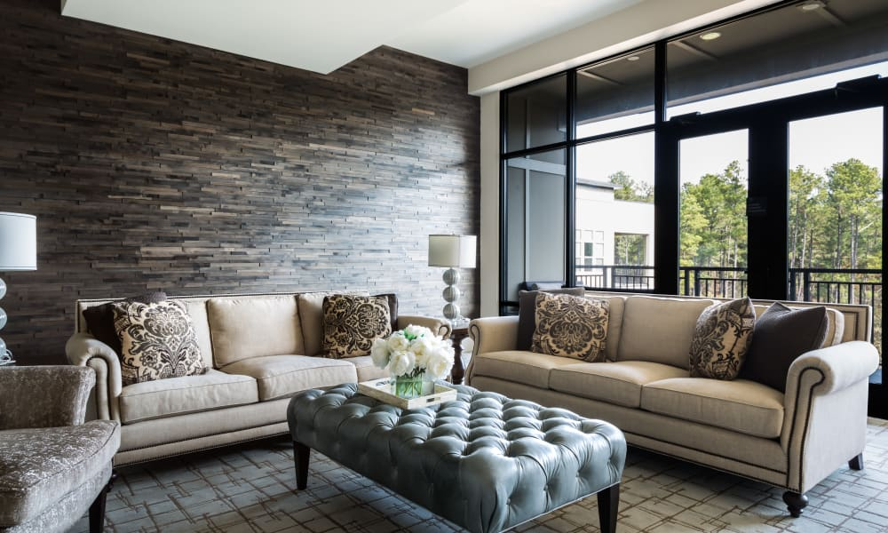 Beautiful furniture at Carraway Village Apartments in Chapel Hill, NC