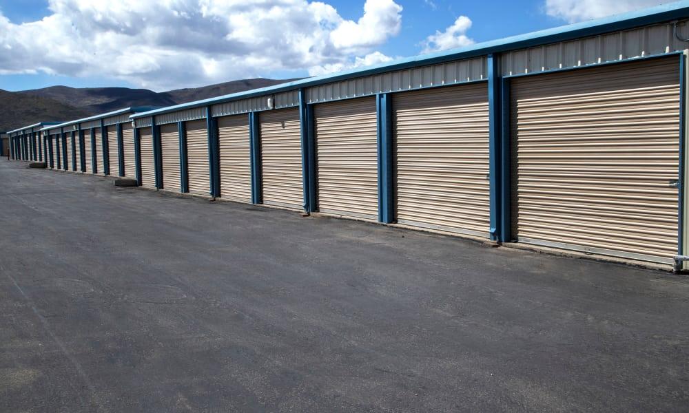 Outdoor storage units at Daniels Road Self Storage in Heber City, Utah