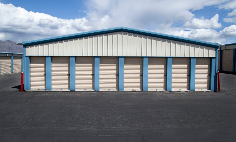 Our facility in Heber City, Utah showcase outdoor self storage units