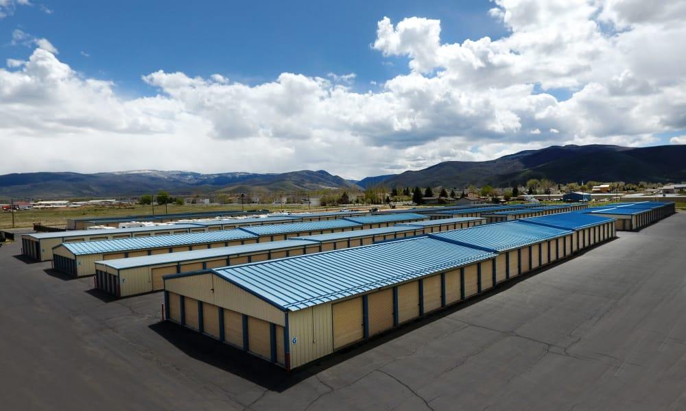 Facility exterior view at Daniels Road Self Storage in Heber City, Utah