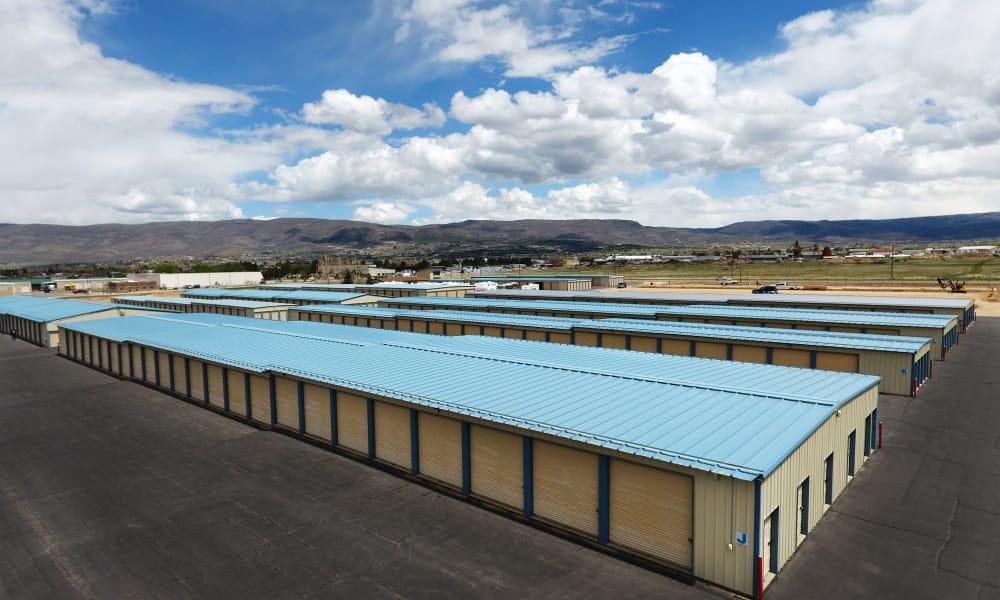 Exterior drive up units view at Daniels Road Self Storage in Heber City, Utah