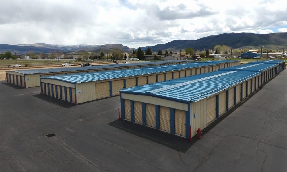 Facility outdoor units exterior view at Daniels Road Self Storage in Heber City, Utah