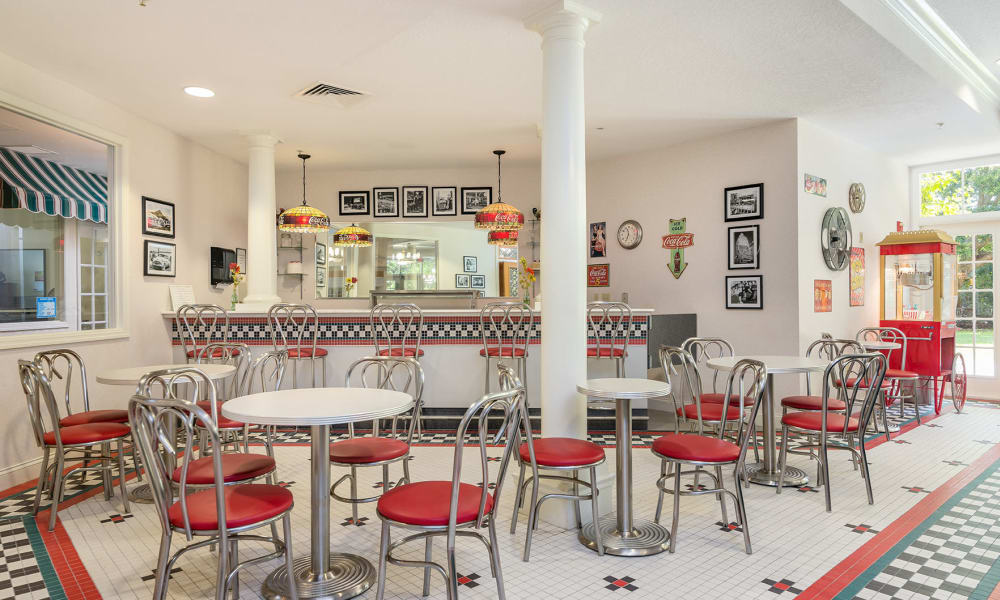 50's style Ice Cream Parlor at Arbor Oaks at Tyrone in St Petersburg, Florida