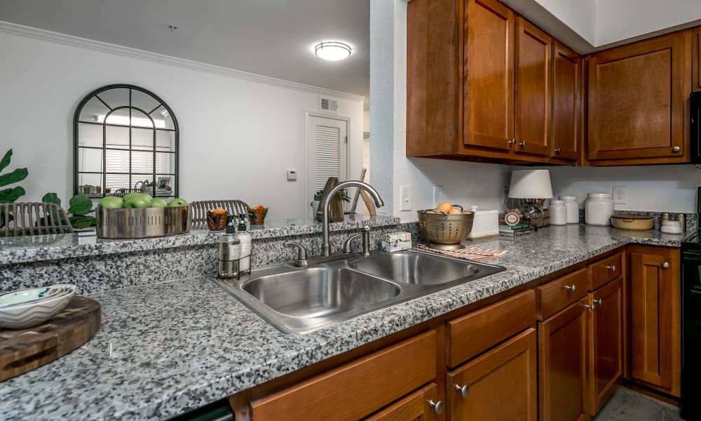 Our apartments in Tuscaloosa, Alabama offer a kitchen with granite countertops