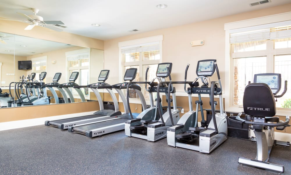Townhomes at Chapel Watch Village fitness area in Chapel Hill, North Carolina
