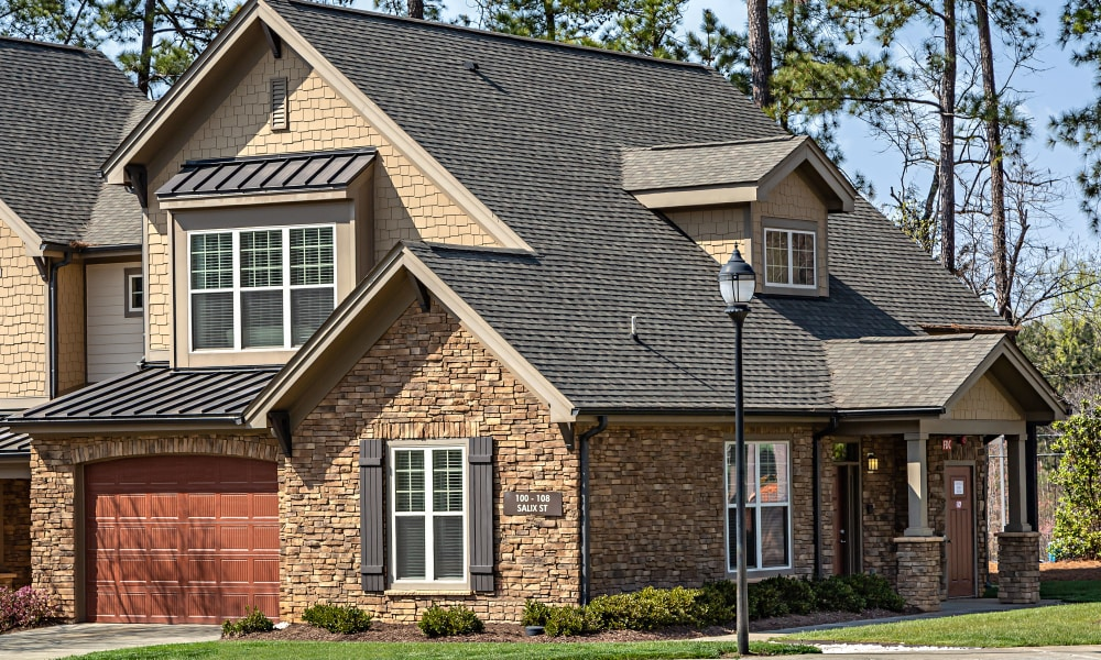 Exterior view of Townhomes at Chapel Watch Village in Chapel Hill, NC