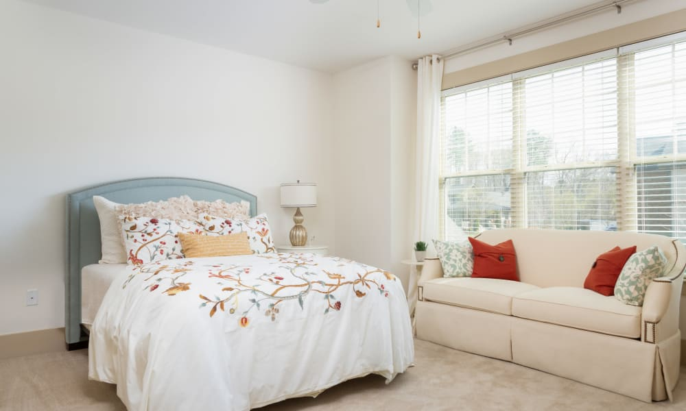 Spacious bedroom at Townhomes at Chapel Watch Village in Chapel Hill, North Carolina