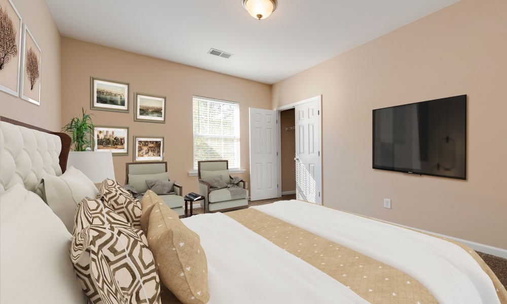 Spacious Bedroom at The Waterway Apartment Homes in Lexington, SC