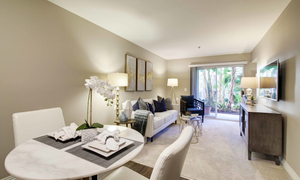 Living area at Fairview Commons in Costa Mesa, California