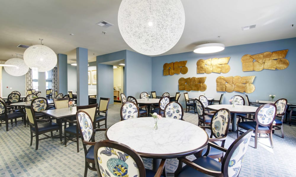 Dining Room at Fairview Commons in Costa Mesa, California