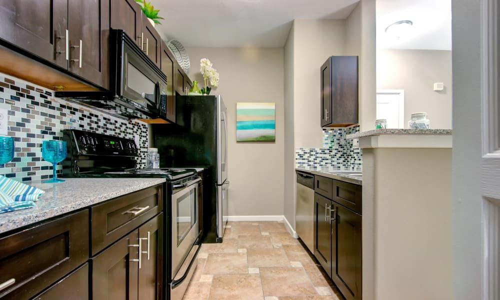 Kitchen at The Niche Apartments in San Antonio, TX