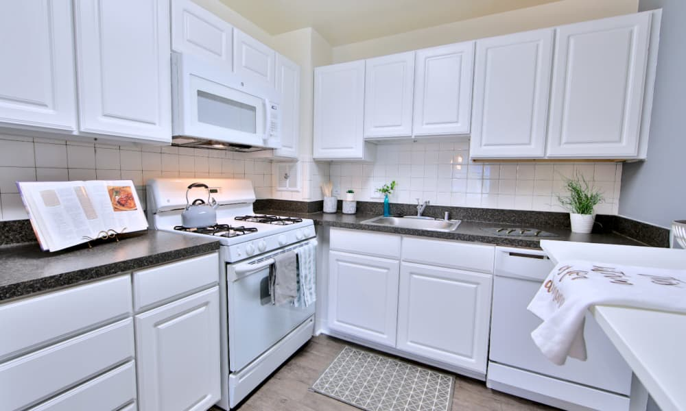 Kitchen at Quality Apartments in Alexandria, Virginia
