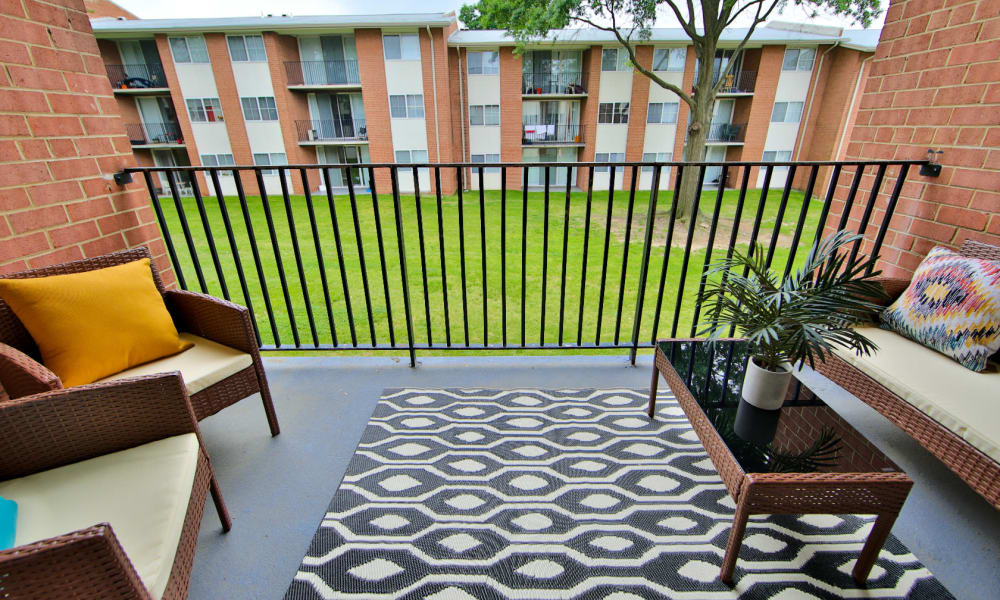 Enjoy Apartments with Private Balconies at Willow Run at Mark Center Apartment Homes