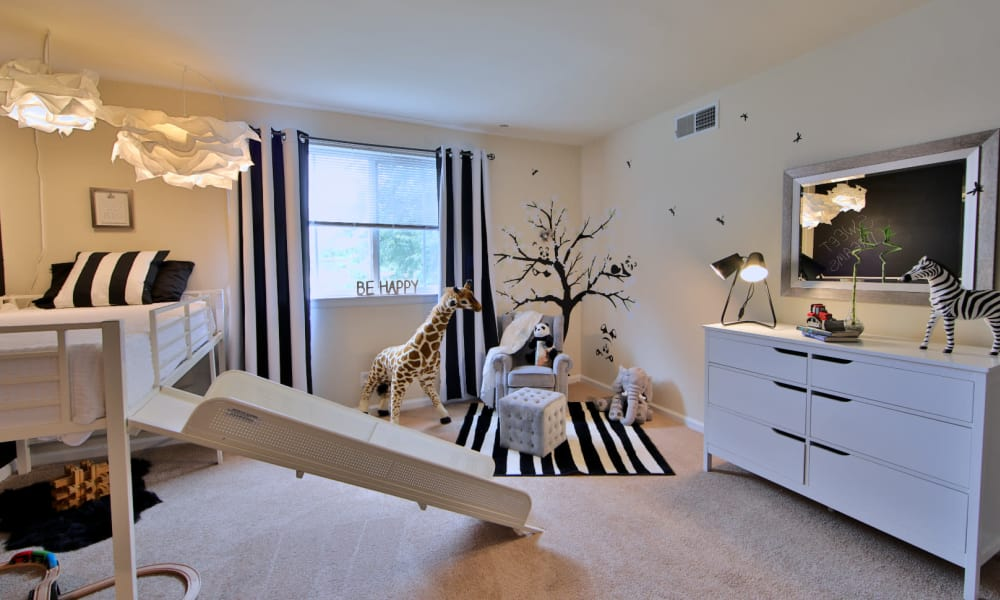 Children's Bedroom at Willow Run at Mark Center Apartment Homes in Alexandria, Virginia